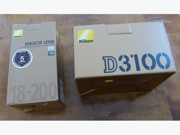 Nikon D3100 14.5mp DSLR with AF-S DX Nikkor 18-200mm f3.5/5.6G ED VRII Lens
