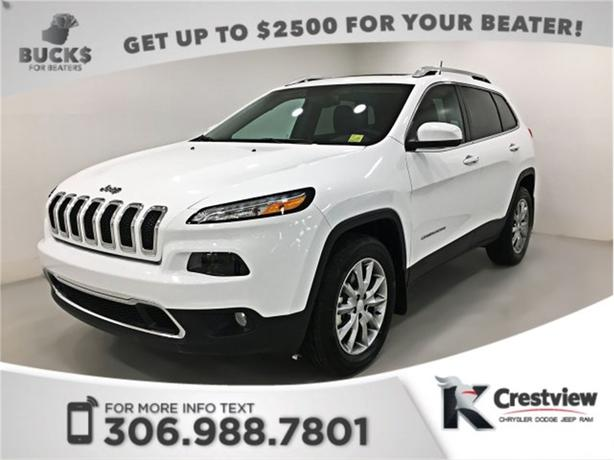 2017 Jeep Cherokee Limited 4x4 V6   Heated and Ventilated Seats   Sunroof