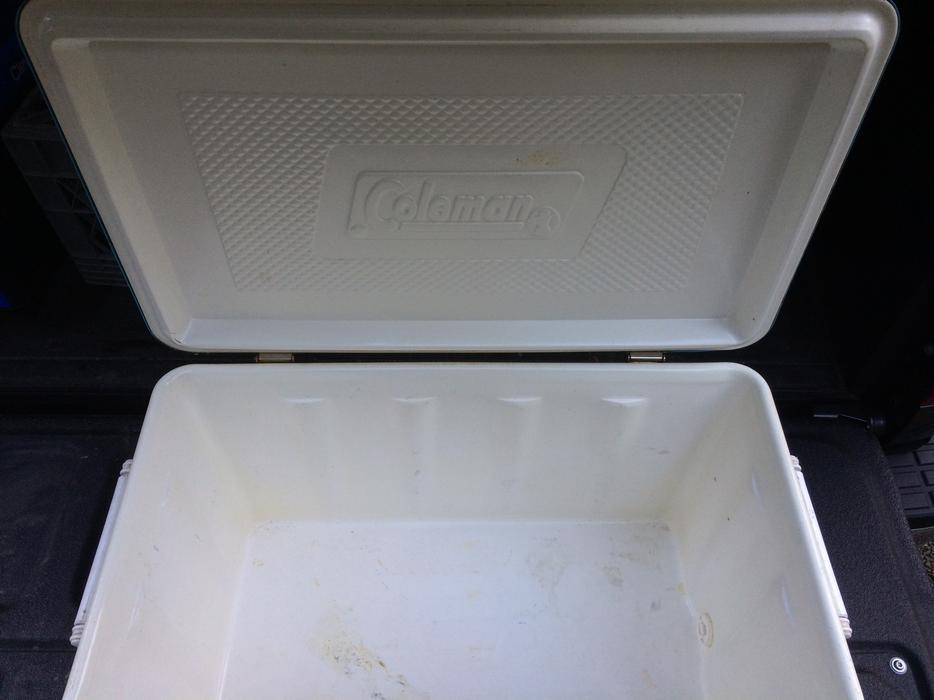 $25 · Vintage Coleman Metal Cooler