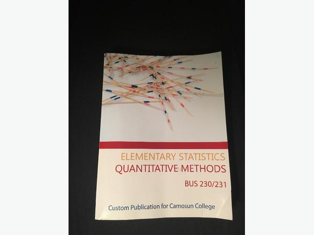 Elementary statistics quantitative methods bus 230/231 by