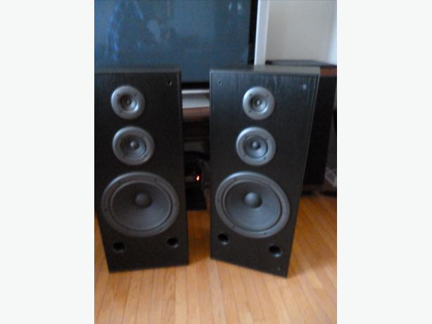 Technics SB-A27 Stereo Tower Speakers 3 Way 12 inch Woofers