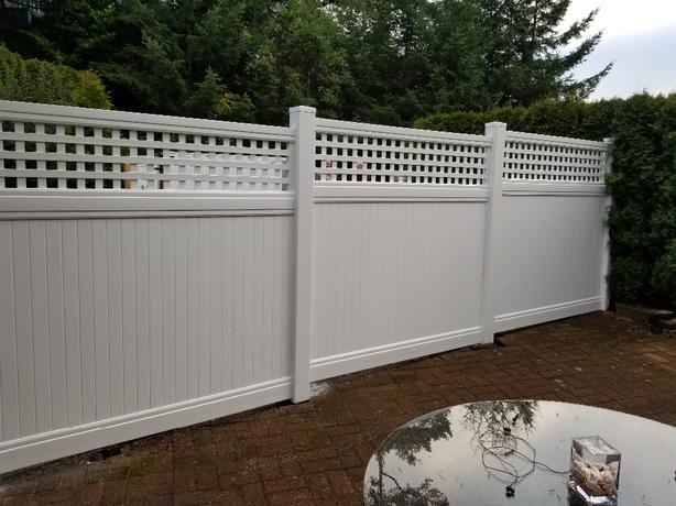 FOR TRADE: VINYL FENCE SUPPLY AND INSTAL