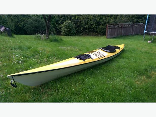 Enterprise 17'6 Wood & Fiberglass Kayak