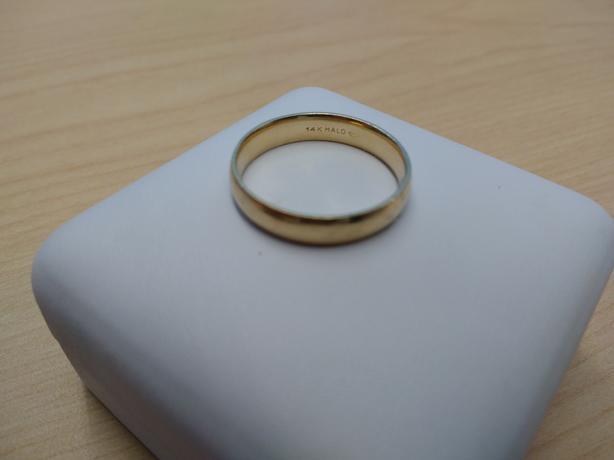Plain Gold Ring - Size 13 - 14 karat
