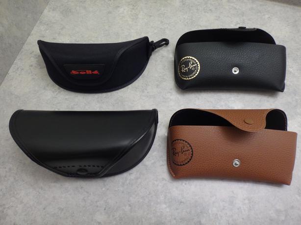 Sunglasses Cases Hard Soft Brown Black