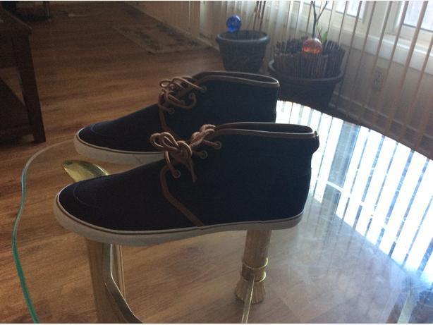 Size 12 ASOS Chukka Boots in Navy Canvas