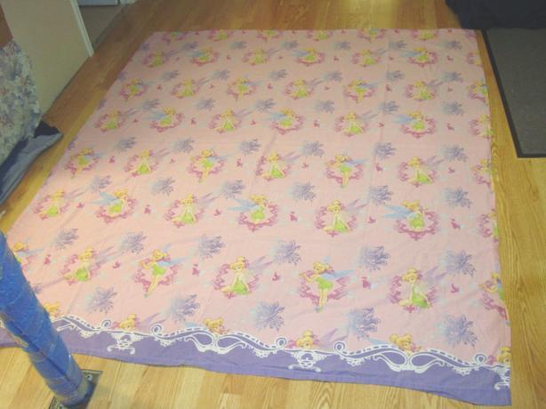 Like New Pink Tinkerbell Double Flat Sheet Princess - $8