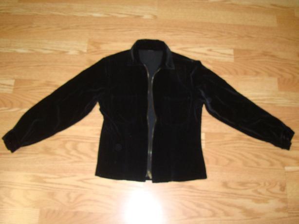Like New Black Velvet Coat Jacket Size Small - $5