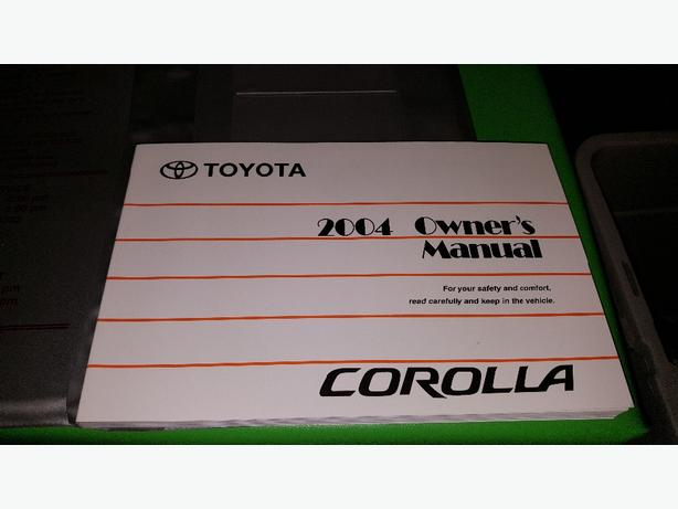 2004 toyota corolla owners manual west shore langford colwood rh usedvictoria com 1994 Toyota Corolla Model 2004 toyota corolla s owners manual