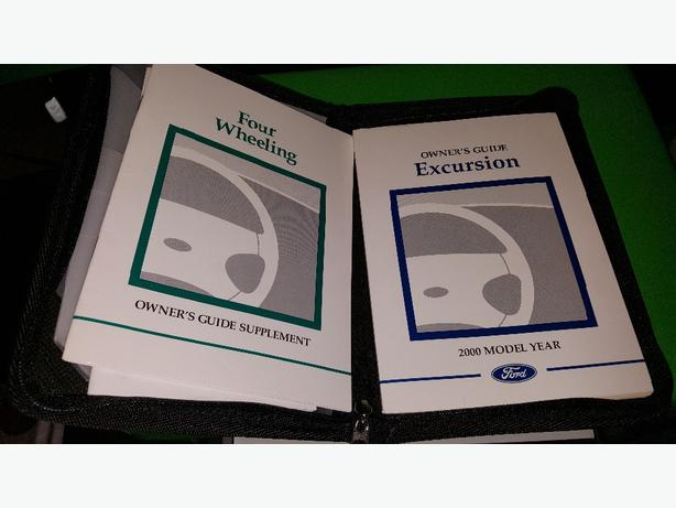 Bestseller  2000 Ford Excursion Owners Manual