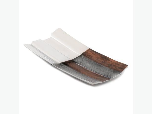 Modern Geometric Commix Long Metal Dish Platter Tray Set of 4 Brand New
