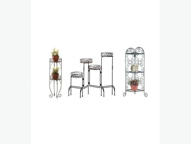 Indoor Outdoor Metal Plant Stand 3 Styles Great For Corners 2 Lot Choice