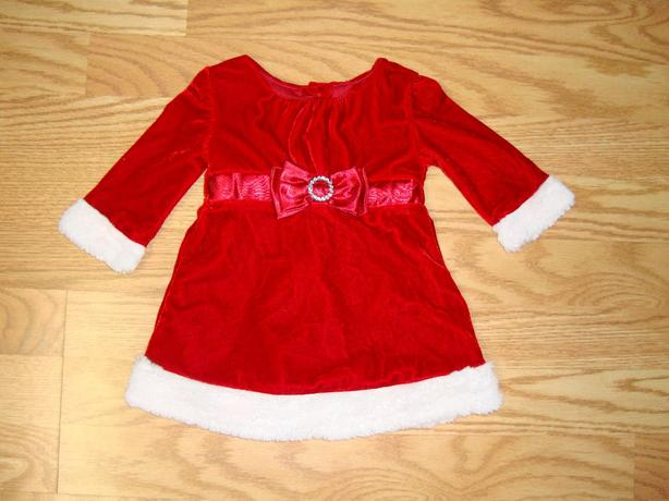 Like New Dress Santa Velvet Size 6 months - $15