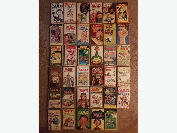 35 Vintage Mad Paperback Books (used)