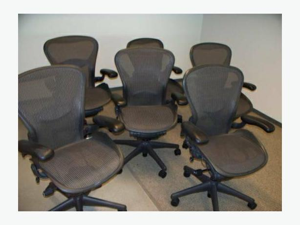 herman miller aeron chairs size b fully loaded - Aeron Chair Sizes