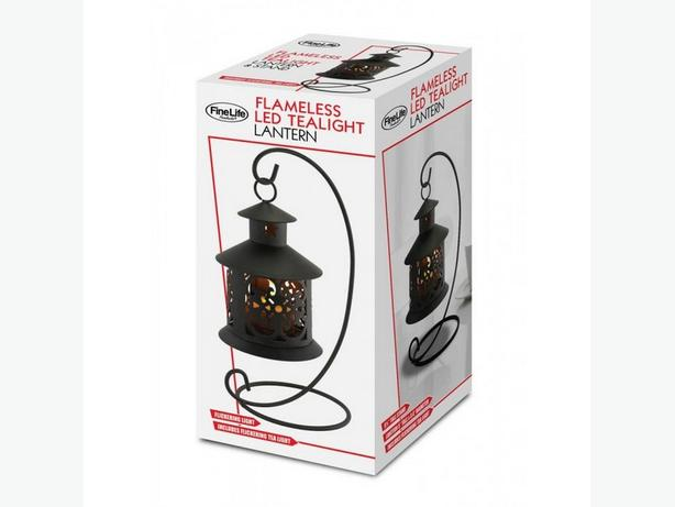 Flameless Hanging LED Tealight Candle Lantern 4 Lot Brand New Black