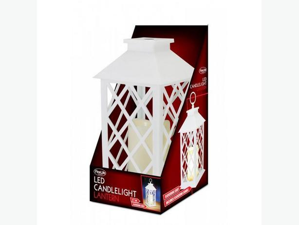 Flickering LED Flamless Candle Lantern 4 Lot Brand New White