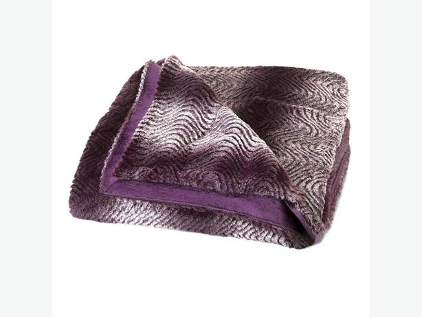 Faux Fur Purple Throw Blanket Bulk Buy of 3 Brand New