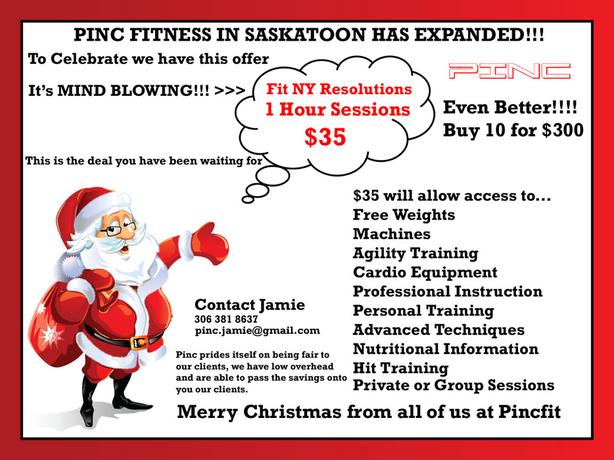 Christmas Personal Training and Group Class Special
