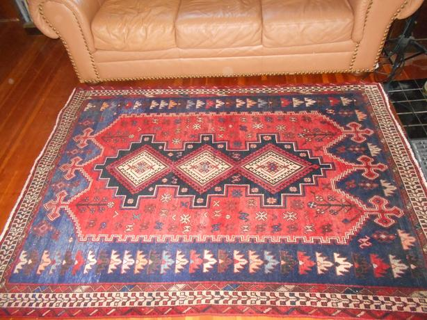 Antique Afshar genuine Persian carpet