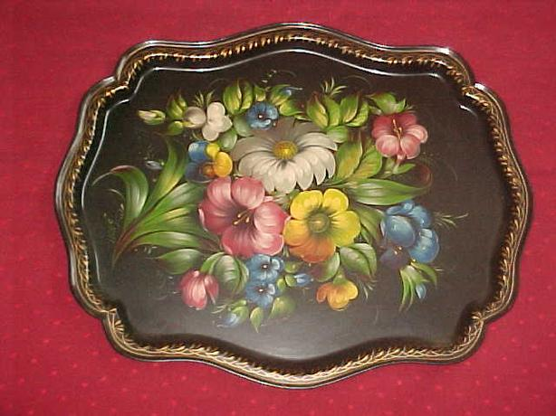 MADE IN USSR ENAMELLED TRAY
