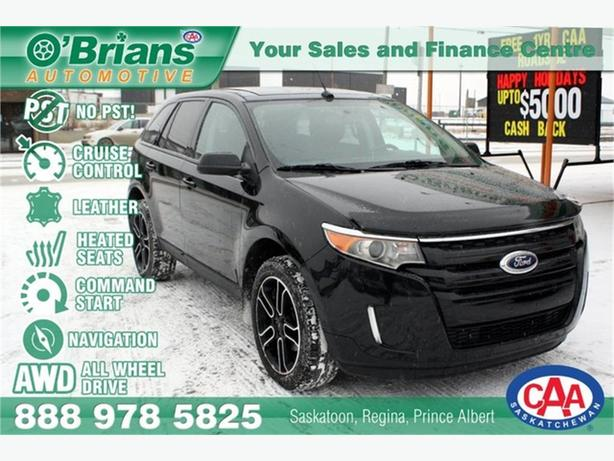 2014 Ford Edge SEL - No PST! w/AWD, Leather, Nav