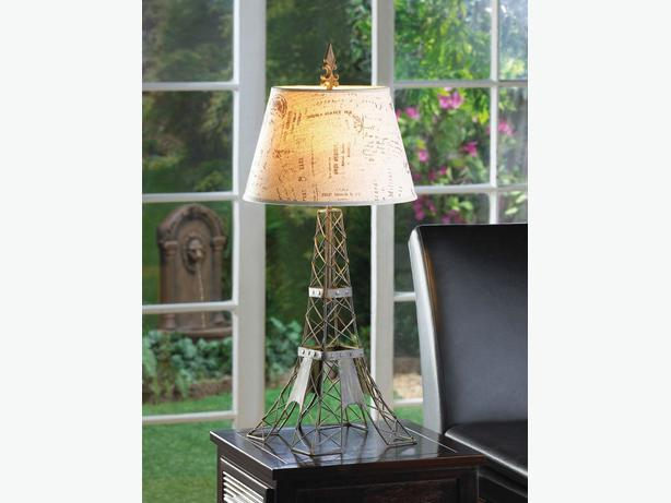 Tablelamp With Metal Wire Frame Eiffel Tower-Inspired Brand New