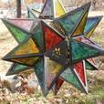 Large Hanging Star Candleholder Lantern Lamp Clear Multi-Color 2 Lot Choice New