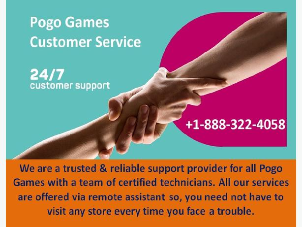 Pogo Customer Service Phone Number 1-888-322-4058