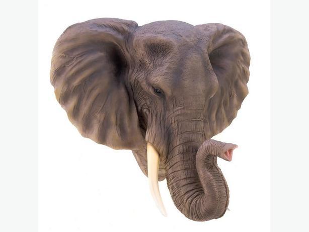 Dimensional Elephant Head Bust Wall Sculpture Brand New