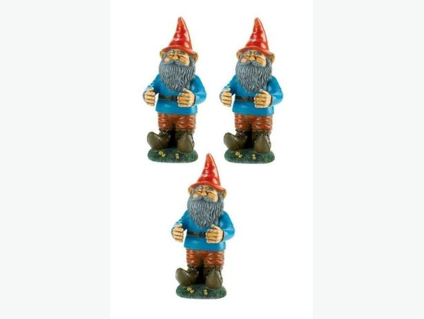 Gnome Figurine Statue Beer Soda Drink Holder Gifts Doorprizes Resale 3 Lot New
