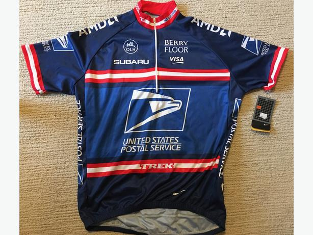 2ad828d15 Team USPS 2004 Nike Dri-Fit Cycling Jersey Men  39 s Size L Oak Bay ...