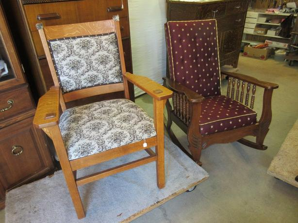MORRIS ROCKING CHAIR & SITTING CHAIR FROM ESTATE