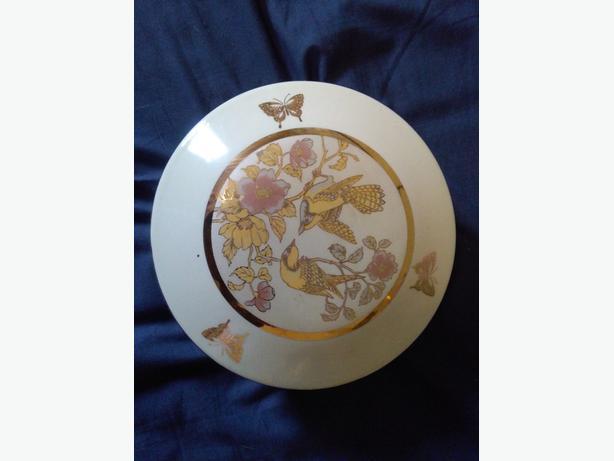 Vintage Art of Chokin Round Trinket Box LIKE NEW