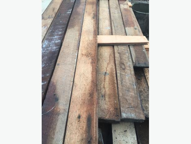 1.25 x 3.25 Doug Fir Dense grain Flooring suitable furniture wood