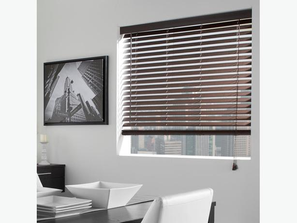 Bouclair Dark Brown Faux Wood Blinds For Sale Gloucester Ottawa