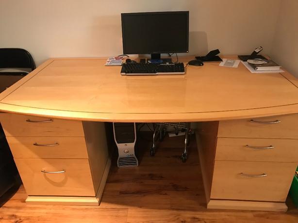 Executive Solid Oak Desk