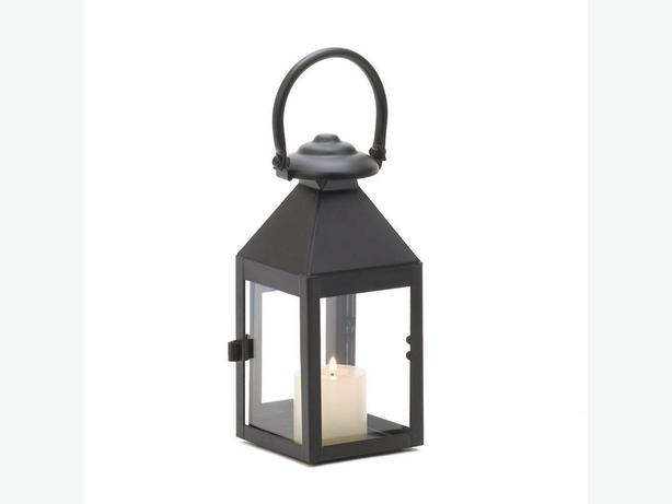 Indoor Outdoor Classic Black Candleholder Lantern with Loop Handle 5 Lot New