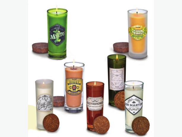Highball Cocktail Liquor Scented Candle Cork Lid 7 Different Mix & Match Any 6