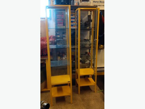 Glass retail display cabinets