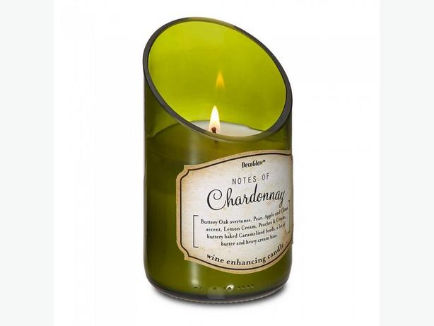 Wine Bottle Chardonnay Scented Candle 6 Lot