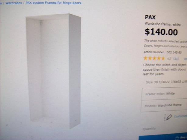 Log In Needed 150 2 Brand New Ikea Pax Wardrobe Units No Doors Firm On Price