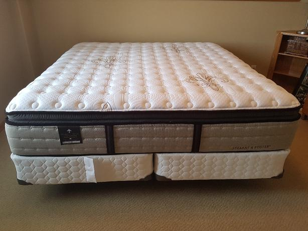 Stearns And Foster King Size Mattress And Box Spring East Regina Regina