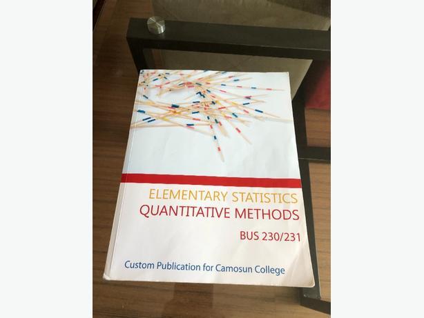 Elementary Statistics Textbook Bus230/231 Victoria City