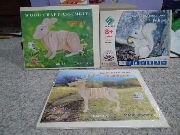 3D Wooden Jigsaw Puzzles Wood Craft Construction Kits