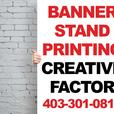 Banner Stand Printing - Creative Factor Inc