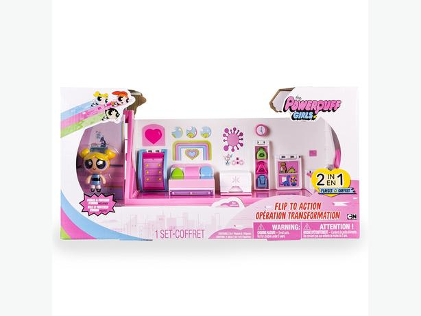 The Powerpuff Girl 2 in 1 Flip to Action Playset