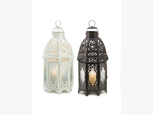 Lattice Candle Lantern Lamp 4 Lot Black White Choice Mix&Match New