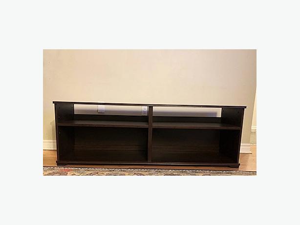 Sleek Dark Wood TV Stand Great Condition