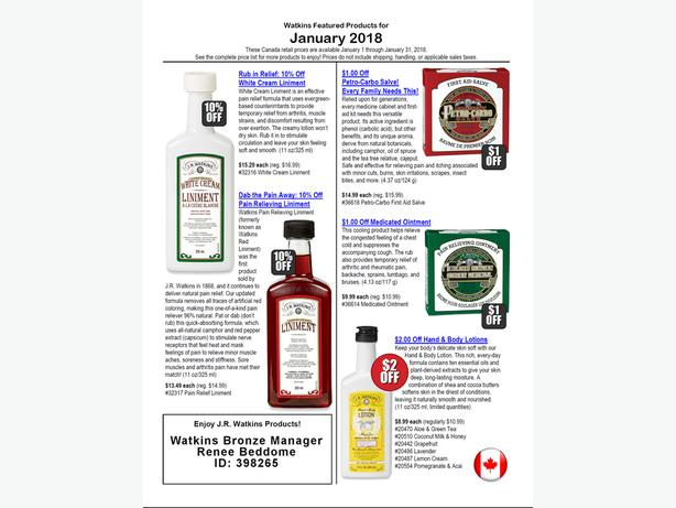 $150 in FREE Watkins Products! - **Promotion** Read More